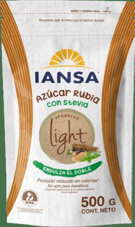 Azúcar Iansa Light Rubia con Stevia