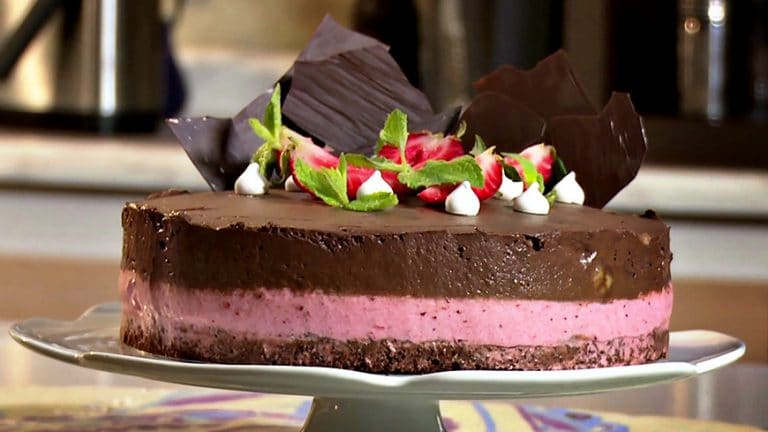 Torta Helada de Chocolate Frutilla