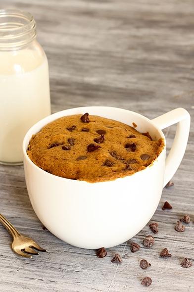 Receta fácil de Queque en taza con Azúcar Rubia