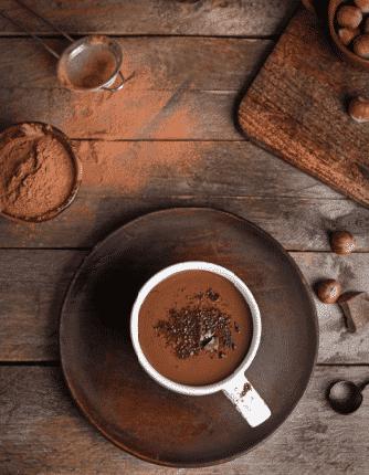 Chocolate caliente con Alulosa Sucralosa